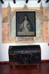 Retrato de Santa Beatriz y cofre