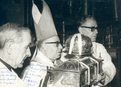 Traslado de las Reliquias a la Capilla de la Santa Madre, octubre 1968
